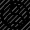 avatar, circle, interface, profile, user