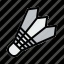 badminton, ball, game, racket