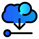 cloud, data, download, server icon