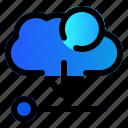 cloud, data, download, server