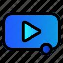 film, media, movie, player icon