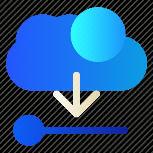 Cloud, data, download, server icon - Download on Iconfinder