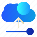 cloud, data, server, upload icon
