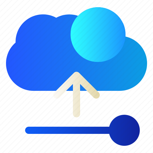 cloud, data, server, upload icon