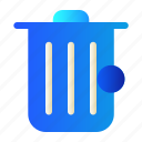 delete, empty, garbage, trash icon