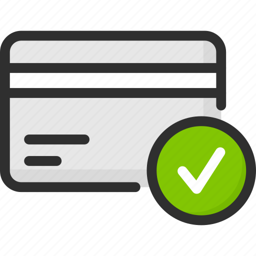 accept, card, check, credit, debit, mark, payment icon