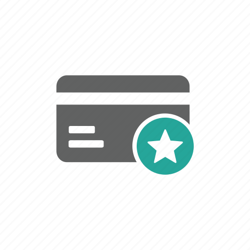 card, credit card, favorite, finance, love, payment, star icon