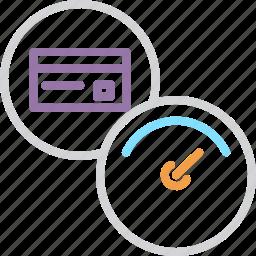 banking, card, credit, dashboard, debit, performance, speed icon