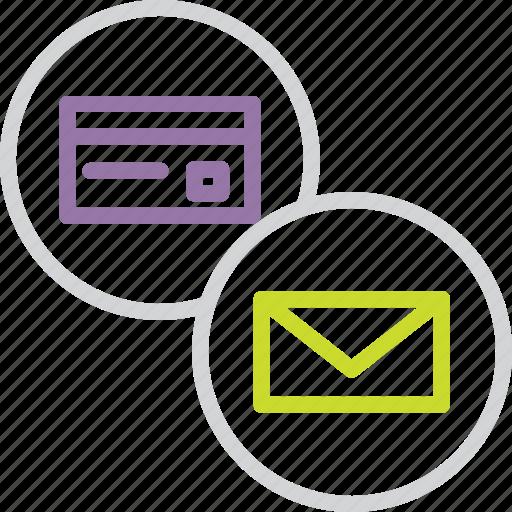 alert, banking, card, credit, debit, mail, statement icon
