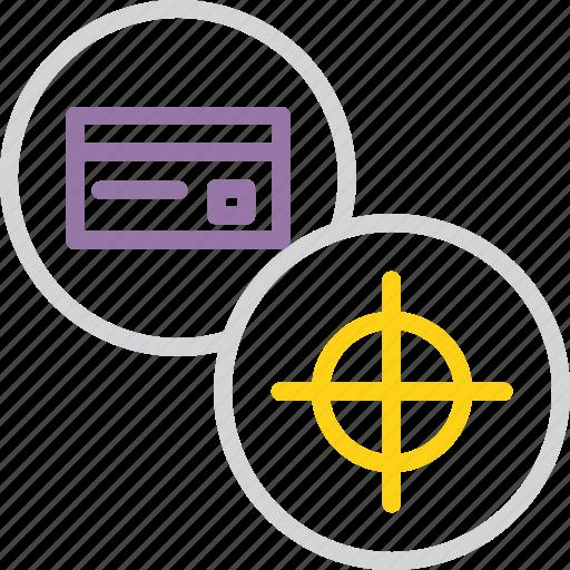 banking, card, credit, debit, goal, limit, target icon