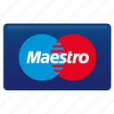 credit card, maestro, maestro card icon