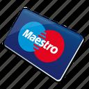 card, credit card, maestro, maestrocard icon