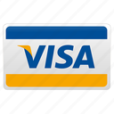 credit card, visa, visa card icon