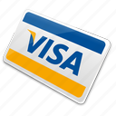 card, credit card, visa, visa card icon