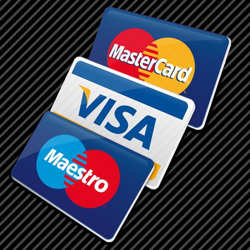 cards, credit cards, maestro card, master card, visa, visa card icon