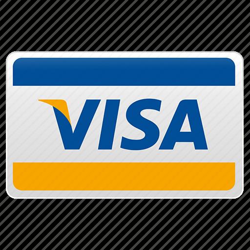 credit card, visa, visa card icon