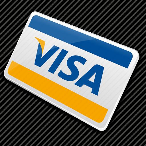 card, credit card, visa, visa card icon