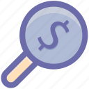 account, find, magnifying, profile, search, search profile icon