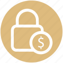 .svg, dollar, financial security, lock, lock and security, security icon