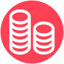 .svg, cash, coins, currency, dollar, dollar coins, money icon