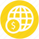 .svg, dollar sign, financial network, global currency, global finance, network, worldwide icon