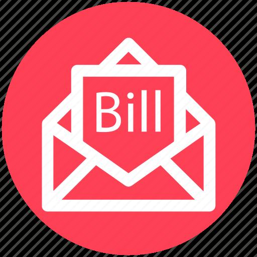 Letter, bill in letter, bill email, email, invoice, letter envelope icon - Download on Iconfinder