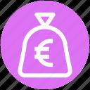 .svg, cash, cash bag, euro, money, payment, sack of money icon