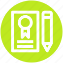 .svg, document, lead pencil, note, pencil and paper, sheet, write icon