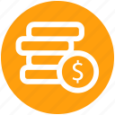 .svg, coins, currency, dollar, dollar coins, money icon