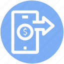 .svg, arrows, dollar, dollar sign, mobile, online payment, smartphone icon