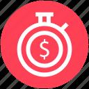 .svg, clock, countdown, deadline, dollar, stopwatch, timer icon
