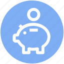 .svg, dollar, money, money box, penny bank, piggy bank icon