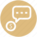 .svg, chat, conversion, dollar message, dollar sign, sms, text icon