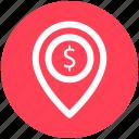.svg, bank location, business gps, finance area, map pin, navigation