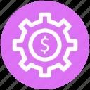 .svg, dollar in gear circle, dollar sign, gear, gear business, gear financial icon