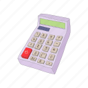 business, calculator, cartoon, math, mathematics icon