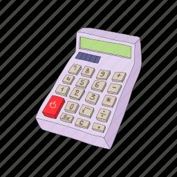 business, calculator, cartoon, math, mathematics icon