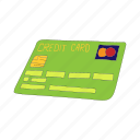 business, buy, card, cartoon, finance, money, plastic icon