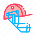 cricket, game, helmet, play icon