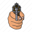 fist, gun, hand, weapon icon