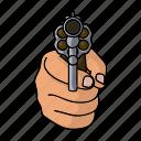 fist, gun, hand, weapon icon