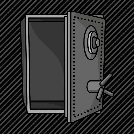 empty, robbery, safe, vault icon