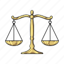 justice, law, scales, themis icon