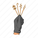 glove, hand, keys, master key, thief icon