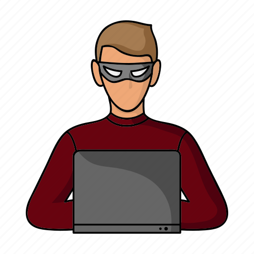 computer, criminal, cyber attack, hacker, internet icon