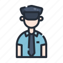 avatar, character, cop, man, officer, police, policeman