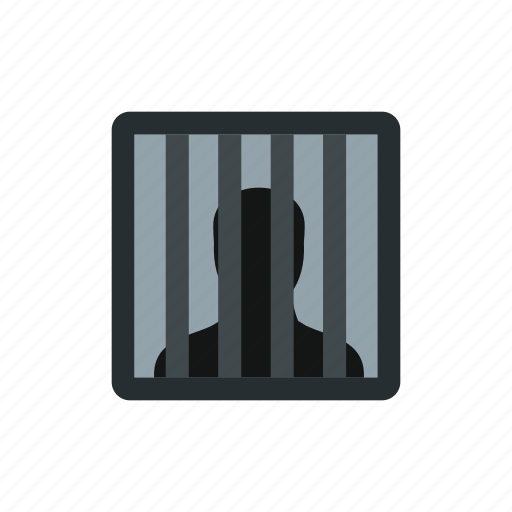bars, behind, hand, male, prison, prisoner, punishment icon