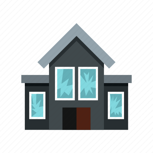 assault, crime, fired, glass, house, shot, windows icon