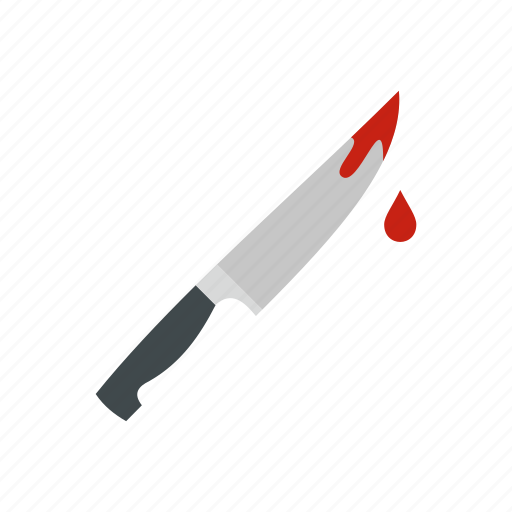 blade, bloody, handle, knife, sharp, steel, weapon icon