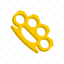 brass, fight, knuckles, metal, punch, strike, weapon icon